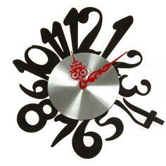 Reloj Pared Números Negro