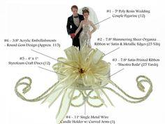 Wedding Centerpiece #030. For more details, including color options and pricing, please visit our website www.lacrafts.com (Centro de mesa para Boda #030. Para más detalles, incluyendo opciones de color y los precios, por favor visite nuestro sitio web www.lacrafts.com)