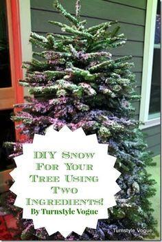 DIY Snow For Your Christmas Tree By Turnstyle Vogue