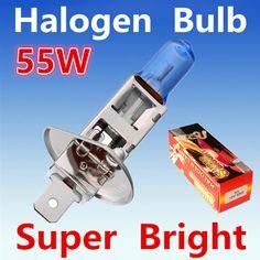 2 개 H1 55 와트 12 볼트 슈퍼 밝은 화이트 안개 할로겐 전구 자동차 헤드 라이트 램프 주차 외부 조명 크세논 자동차 광원