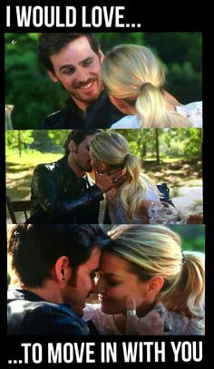 """I would love to move in with you"" -Hook- 5x03 ""The Other Shoe"" #onceuponatime #season6 #ouat #once"