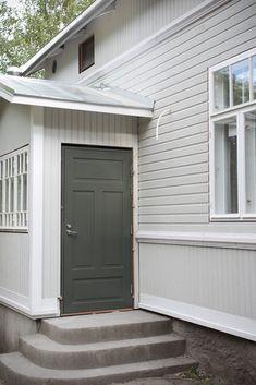 Mansard Roof, Entrance, Porch, Garage Doors, Villa, Cottage, Interior Design, Garden, Outdoor Decor