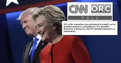 Rigged: CNN Poll Claiming Hillary Won the Debate Sampled 41% Democrats Compared to 26% Republicans