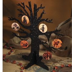 Silhouette Halloween Tree from The Holiday Barn