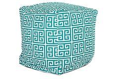 Greek Turquoise Outdoor Cube from One Kings Lane >> https://www.onekingslane.com/?utm_source=hgtv_medium=pinterest_campaign=april_content=diy_term=feat.board=pinterest