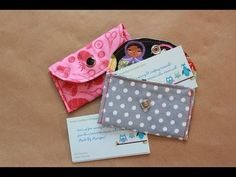Learn to sew a business card wallet with this free video tutorial.