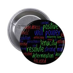 Motivational Words for New Year Positive Attitude Button #zazzle HightonRidley