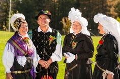 People wearing national costume of Slovenia, Slovenian dress
