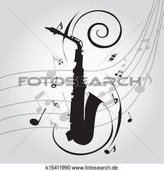 Voir saxophone graphique Grand cliparts