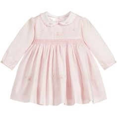 Girls Pink Hand-Smocked Dress for Girl by Sarah Louise. Discover more beautiful designer Dresses for kids Little Girl Dresses, Girls Dresses, Flower Girl Dresses, Smocked Baby Clothes, Designer Dresses For Kids, Pink Girl, Smocking, Fashion Dresses, Kids Online