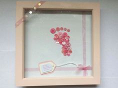 Baby girl footprint box frame gift/nursery by JustHandmadeDelights Baby Girl Items, Box Frames, Footprint, Nursery Decor, Unique Jewelry, Handmade Gifts, Etsy, Kid Craft Gifts, Craft Gifts