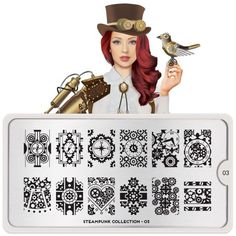 MoYou-London Nail Art Stamping Plate Steampunk Collection 03