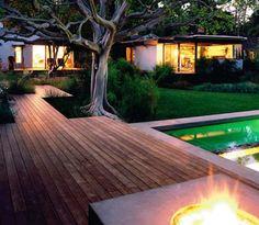 great deck, but the tree is the star here!-landscape design , garden design ideas , landscaping ideas , garden ...