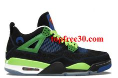 low priced 0064e 46119 for nikes OFF - Air Jordan 4 Retro Doernbecher Black Old Royal Electric Green  White Men s Sports Shoes