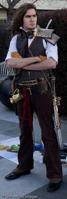 Steampunk SF 2008 -7 by LJinto on Flickr. I don't see as many steampunk guys as I do girls. This looks awesome.