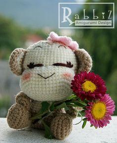 Amigurumi Monkey no ears amigurumi buddha jizo crafts crochet Crochet Monkey, Cute Crochet, Crochet Crafts, Crochet Baby, Knit Crochet, Crochet Amigurumi, Amigurumi Doll, Crochet Dolls, Crochet Toys Patterns