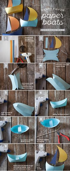DIY Paper Boat Tutorial from MichaelsMakers Lia Griffith