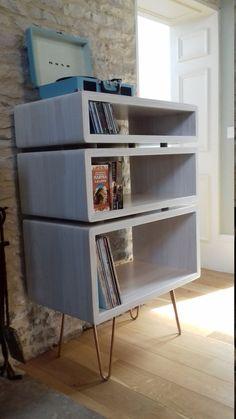 Record Player Stand, Vinyl Record Player, Vinyl Records, Vinyl Storage, Carpentry, Bookcase, Shelves, Entertainment, Cabinet