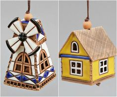 Ceramic House Bell,  Kids toy, School Accessories, Teacher gifts, Home decoration, Mobile, Music toy, Child toy, Christmas time, Easter