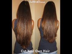 Diy cutting split ends hair tutorial hair pinterest cuttings long layered u cut haircuts back view solutioingenieria Choice Image