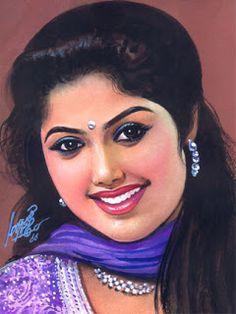 Oviyar Maruthi Indian Women Painting, Indian Art Paintings, Old Paintings, Beautiful Paintings, 3d Art Drawing, Art Of Beauty, Painting Of Girl, Beautiful Indian Actress, Indian Beauty