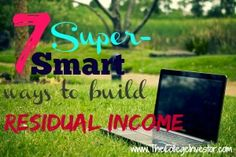 Building a residual income is a great way to reach financial freedom. You put in the hard work and continue to bring in a lifelong income.
