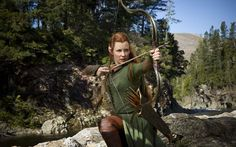 """Evangeline Lilly as elf warrior Tauriel in """"The Hobbit: The Desolation of Smaug."""" the Tolkien purist in me is cringing. Tauriel, Legolas, Thranduil, Gandalf, Kili, Evangeline Lilly, Entertainment Weekly, Hobbit 2, Hobbit Films"""