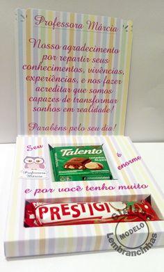 Caixa Cartão Dia dos Professores | Gigiane Lembrancinhas | Elo7 Diy And Crafts, Paper Crafts, Teachers' Day, Quilling, Special Gifts, Boho, Clip Art, Scrapbook, Teaching
