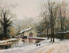 The York Art Society: Geoff Kersey Exhibition Watercolor Painting Techniques, Watercolor Landscape Paintings, Winter Landscape, Landscape Art, Watercolor Beginner, Art Tutor, Art Aquarelle, Art Folder, Art Society