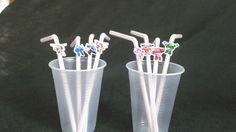 Canudo flexivel personalizados kit com 50 unidades <br>Um charme para sua festa!