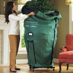Rolling Christmas Tree Storage Bag Xtra Large Artificial 10 Ft ...