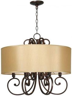 Rue Maison 6-Light Iron Chandelier - Modern Chandeliers - Dining Room Chandeliers - Foyer Chandeliers - Contemporary Chandeliers - Six-light Chandeliers - Candelabra Chandeliers | HomeDecorators.com