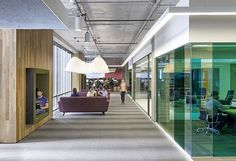 Trends reshaping today's workplace. The Cisco headquarters featuring Milliken's Color Wash collection.