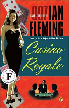Casino Royale Penguin books pulp paperback.  I got a collection of James Bond books at an auction just before they made the Daniel Craig version.  I tried to picture one of the movie Bonds but I ended up with Mel Gibson from The Year of Living Dangerously.  I love the book Bond; he's more flawed than the movie version.  Ian Fleming is my second favorite author after Campbell Black.