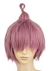 Capless synthetische roze kleur Hetero Korte Personality partij pruik