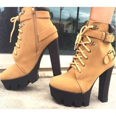 Discount Lace up Platform Booties - http://myshoebazar.com/product/discount-lace-up-platform-booties/