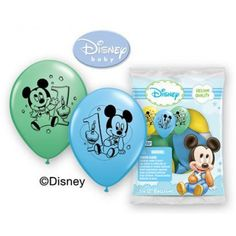 Mickey Mouse First Birthday 12in Latex Balloons - Party Depot