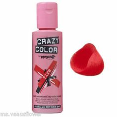 RENBOW CRAZY COLOUR HAIR DYE FIRE RED SEMI PERMANENT   eBay