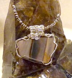 Misty Mountain Jasper stone wire wrapped in by BerlyDesigns, $59.00