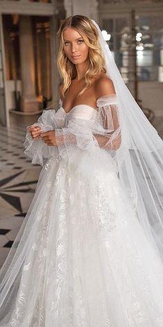 60 Trendy Wedding Dresses For 2020 ❤ trendy wedding dresses a line sweetheart neckline off the shoulder milla nova ❤ Amazing Wedding Dress, Classic Wedding Dress, Wedding Dress Trends, Fall Wedding Dresses, Bridal Dresses, Modest Wedding, Mode Outfits, The Dress, Divas