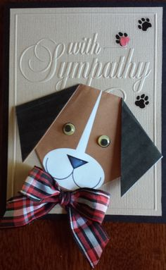 Pet+Sympathy - Scrapbook.com (Pin#1: Animals/... Pin+: Sympathy-Pets; Punch Art: Animals...).