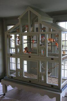 DIY Bird Cage Seed Guard #aviariesdiy #aviariesideas