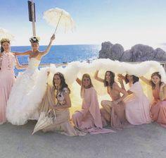 Bridesmaids: Sara y Giovanna Battaglia, Natalie Massenet, Anna Dello Russo, Erin Hazelton y Tanya Taylor