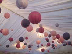 Our pink & purple wedding decor #lanterns #BC