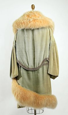 Evening coat Révillon Frères (French, founded 1723) Date: 1928 Culture: French Medium: silk, fur, glass, embroidery