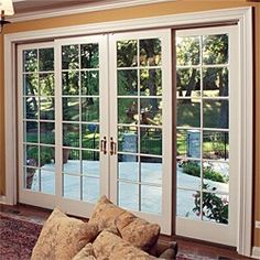 Def My Back Doors. Sliding French Doors With Screens.