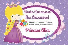 Convite Digital Princesa - Rapunzel
