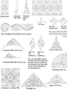 computerized quilting patterns for a Double Irish Chain