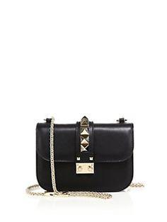 Valentino - Rocklock Small Leather Crossbody Bag