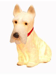 Scottie dog lamp from Tea Pea